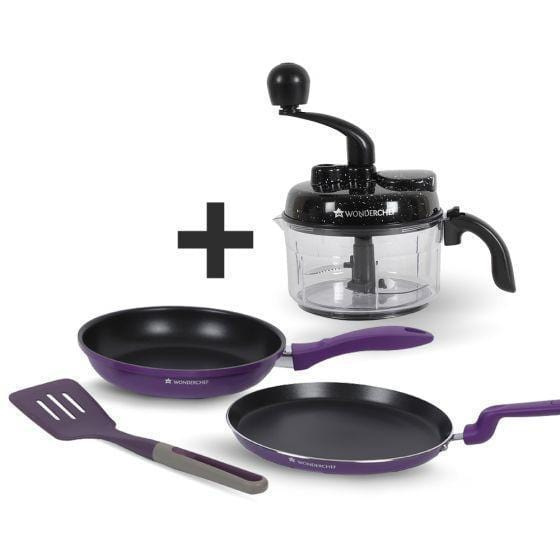 Wonderchef 3 Pc Elite Fd Set + Turbo Chopper