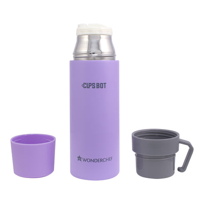 Cups-Bot Stainless Steel Vacuum Insulated Double Wall Hot and Cold Flask, Purple,-Flasks
