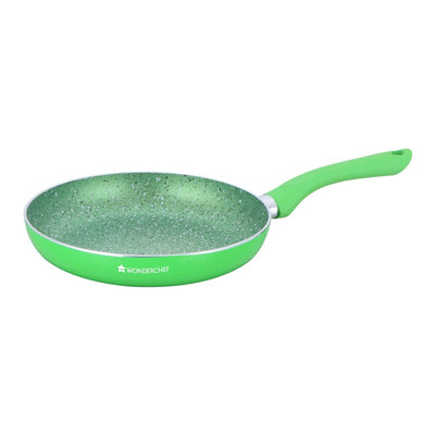 Royal Velvet Plus Aluminium Nonstick Cookware Set, 4Pc, Green-Cookware