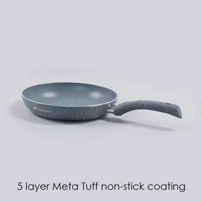 Granite Aluminium Nonstick Frying Pan 3.5mm, Grey-Cookware