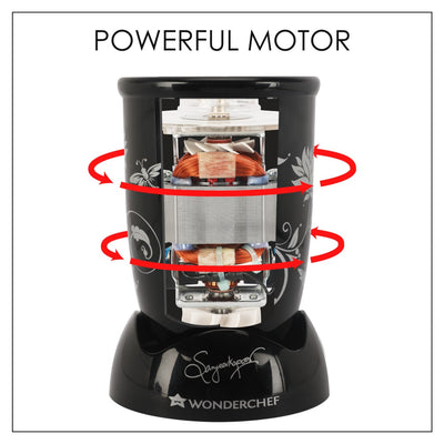 Nutri-blend Mixer Grinder 400W with 3 Jars (Black)-Appliances