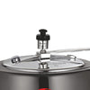 Raven Induction Base Hard Anodized Pressure Cooker With Inner Lid, 2L, Black-Cookers