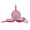 Wonderchef French Blossom 4Pc Set (Induction Base) - Wonderchef