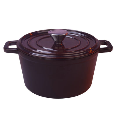 Ferro Cast-iron Casserole with Lid, 4.5mm, Majolica Red-Cookware