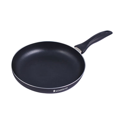 Ultra Pure Grade Aluminium Nonstick Frying Pan - 24cm, 1.8L, 2.7mm, Black-Cookware