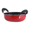 Little Samson Stainless Steel Nonstick Kadhai, 16cm,0.7L, 1mm, Red-Cookware
