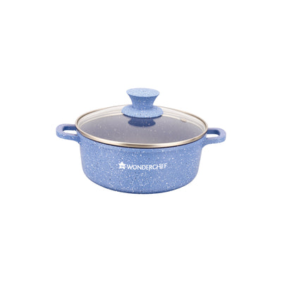 Wonderchef Granite Die-Cast Casserole Set-Blue-Cookware