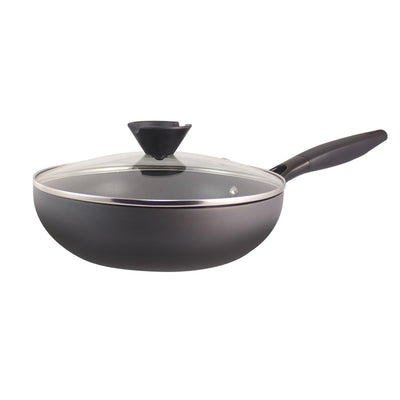 Luxor Aluminium Nonstick Wok - 24cm, 2.5L, 3mm, Black-Cookware