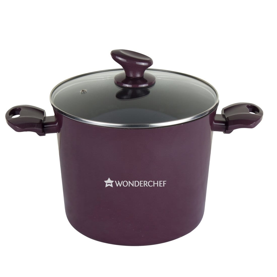 Everest Aluminium Nonstick Casserole with Lid 2.8mm, Purple