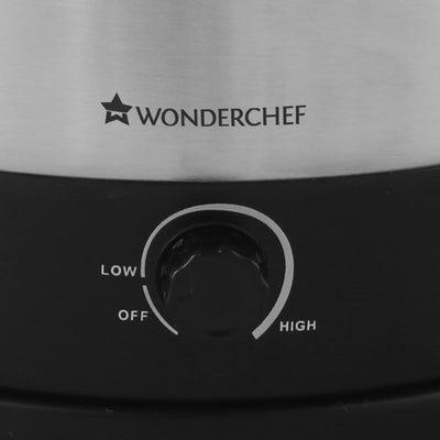 Wonderchef Prato Multi-Cook Stainless Steel 1.6L Electric Kettle with Steamer, 600W-Appliances