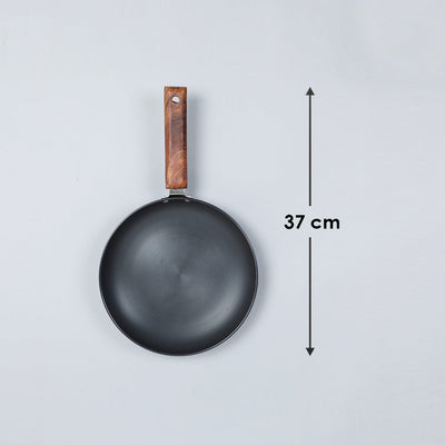 Ebony Hard Anodized Aluminium Induction Based Deep Fry Pan,16.5cm, 750ml, 3.25mm, Grey-Cookware