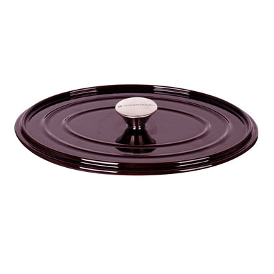 Wonderchef Ferro Cast-iron Oval Casserole with Lid- 29cm, 4.2L, 4.5mm, Majolica Red-Cookware
