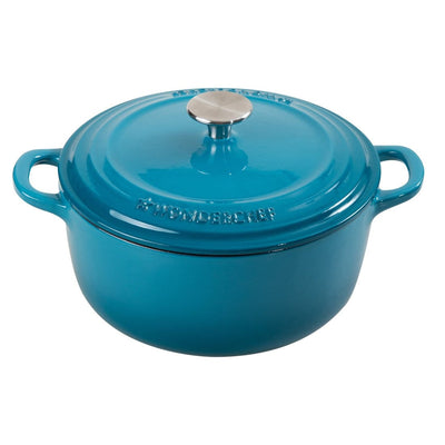 Wonderchef Ferro Cast-Iron 20Cm Casserole With Lid-2L - Blue-Cookware