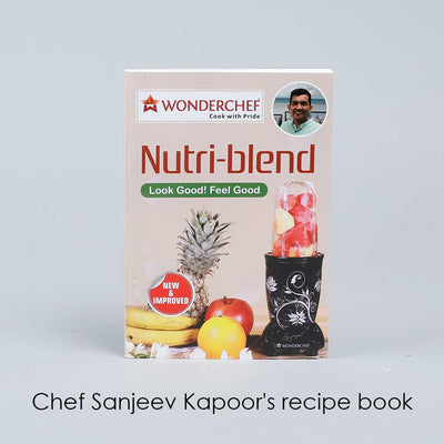 Nutri-blend, 22000 RPM Mixer-Grinder, Blender, SS Blades, 2 unbreakable Jars, 2 Years warranty, 400 W-Champagne, includes Exclusive Recipe book by Chef Sanjeev Kapoor-Nutri-blend