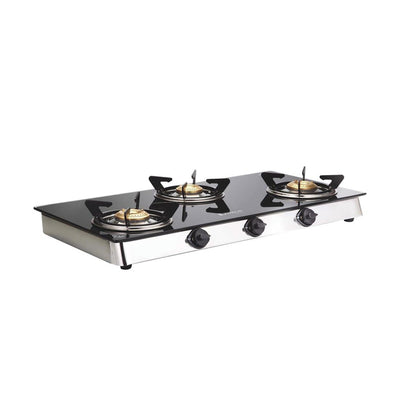Ruby 3 Burner Glass Cooktop-Cookware