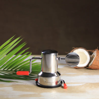 Stainless Steel Vacuum Base Coconut Scraper-Kitchen Accessories