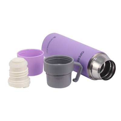 Cups-Bot Stainless Steel Vaccum Insulated Double Wall Hot and Cold Flask, Purple-Flasks