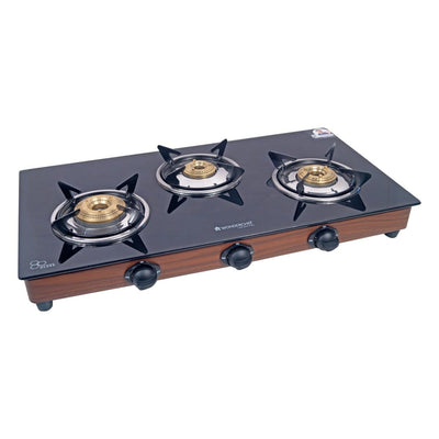Eco Star 3 Burner Glass Cooktop-Cookware