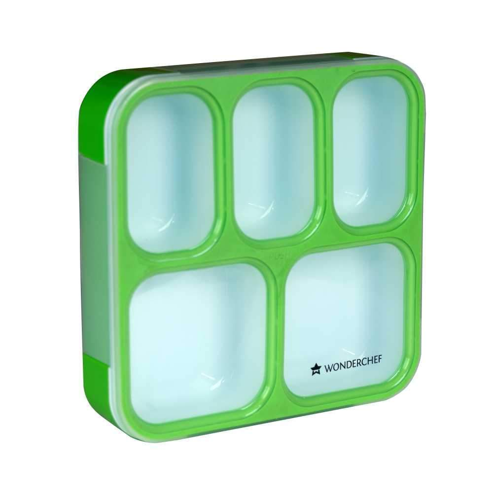 Wonderchef 5 In 1 Ultra Lunch Box - Green