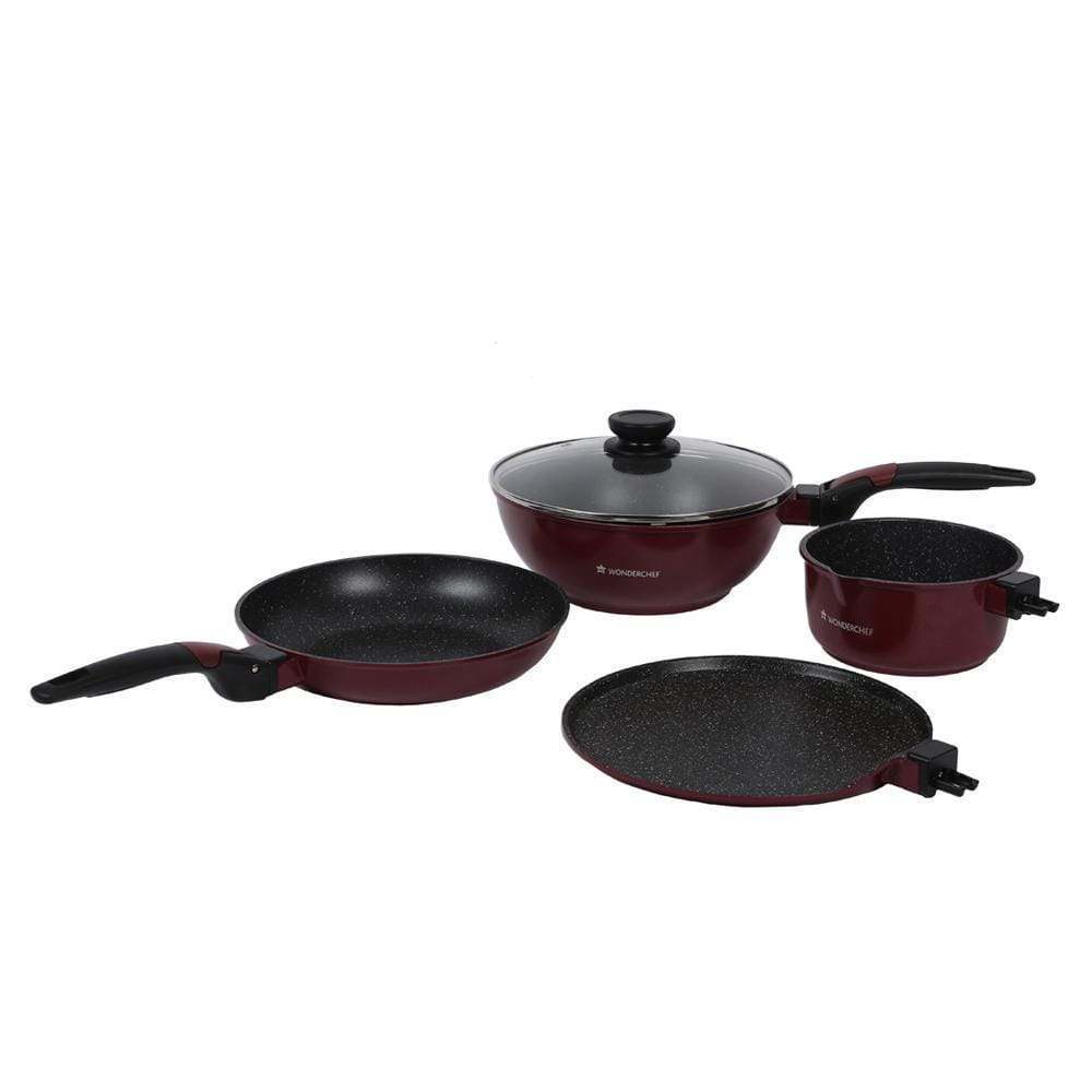 Wonderchef Click Amaze Cookware 4Pcs Set (Induction Base)