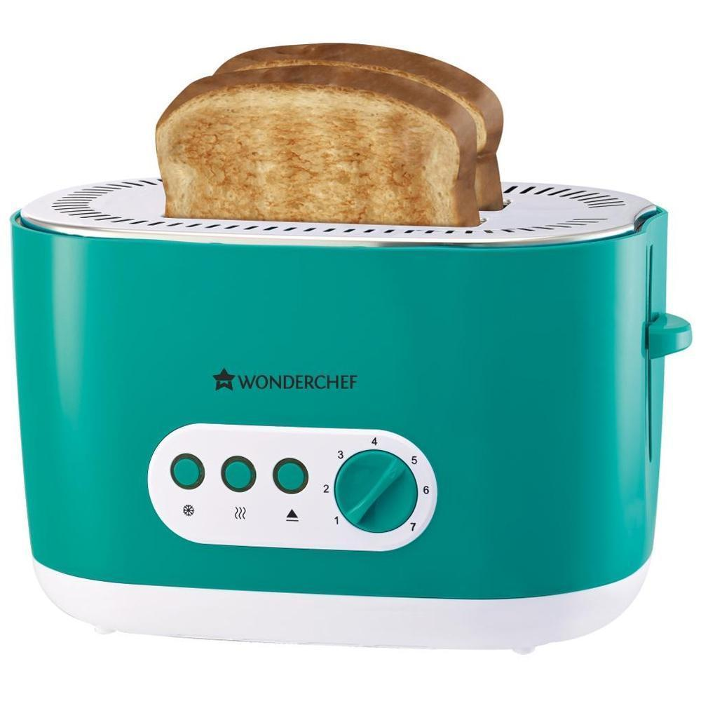 Wonderchef Regalia Pop Up Toaster with 7 Browning Controls, 780W, Green