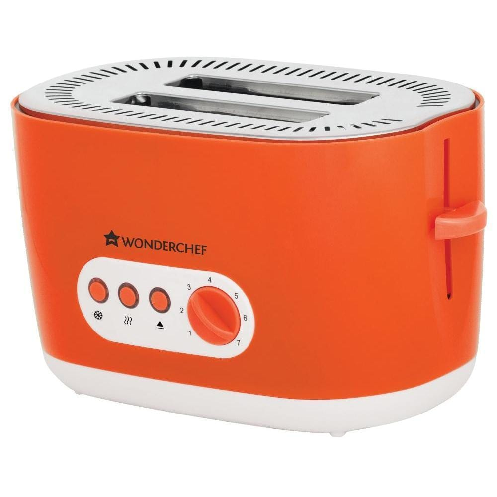 Wonderchef Regalia Pop Up Toaster with 7 Browning Controls, 780W, Orange