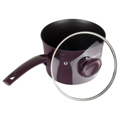 Everest Aluminium Nonstick Sauce pan with lid Purple-Cookware
