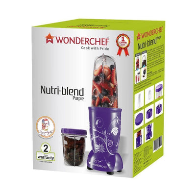 Wonderchef Nutri-Blend Mixer Grinder Purple With Free Serving Glass Set-Appliances