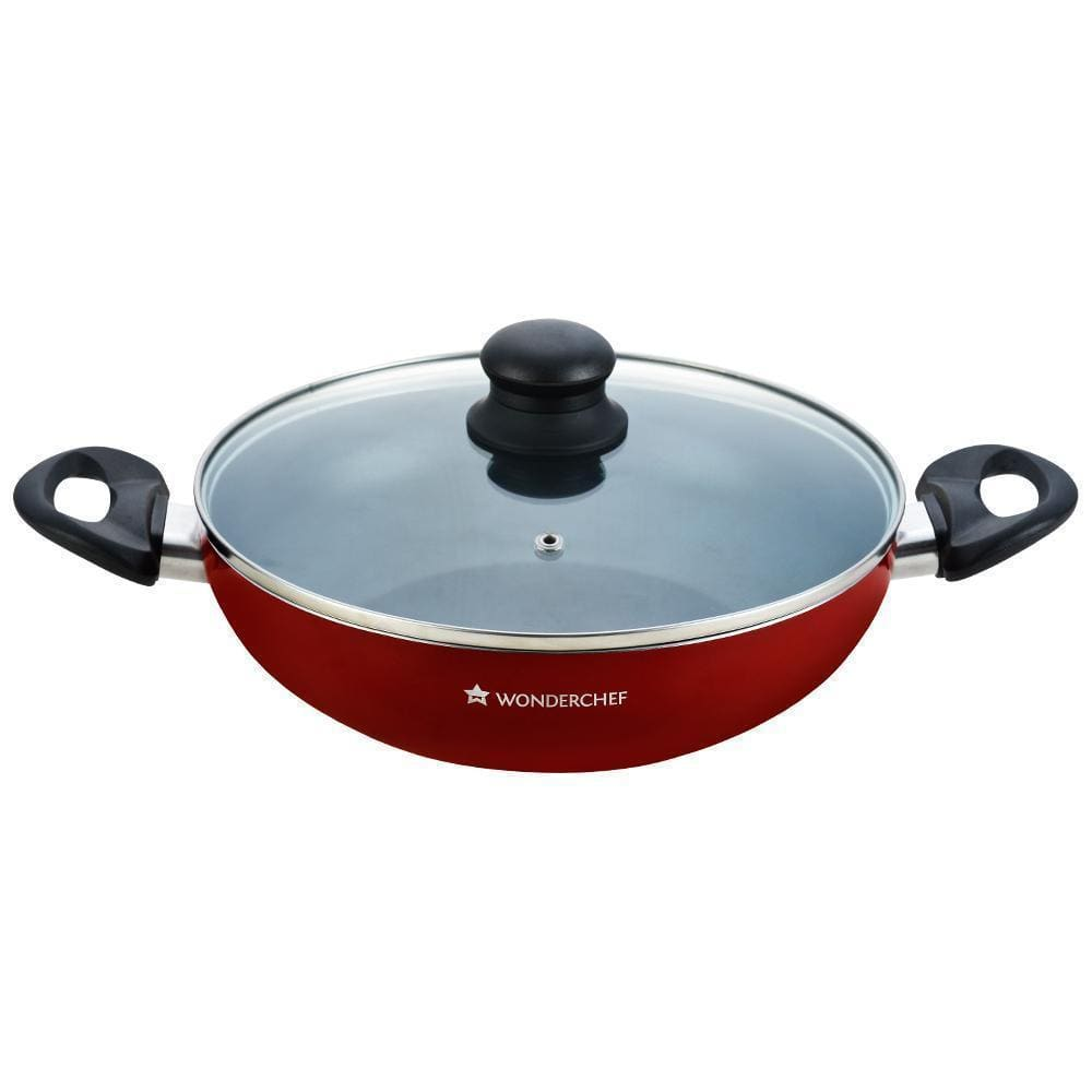 Wonderchef Ruby Series 24cm Wok With Lid - 2.6L