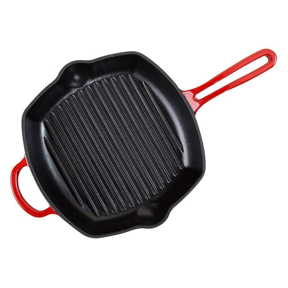 Wonderchef Ferro Cast-Iron 26cm Grill Pan - Red