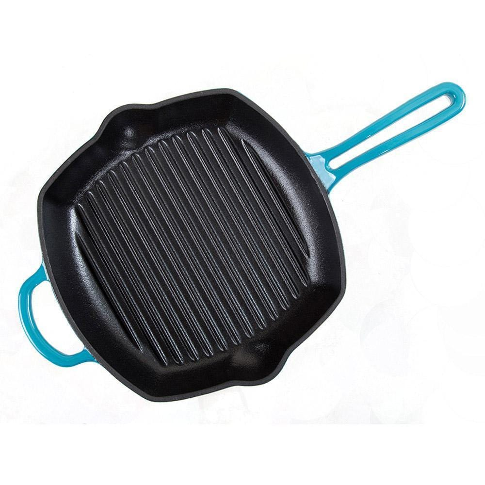 Wonderchef Ferro Cast-Iron 26Cm Grill Pan - Blue