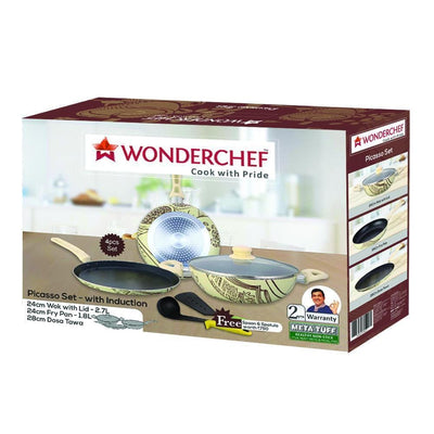 Wonderchef Picasso Set With Induction-Cookware