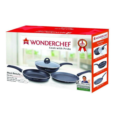 Wonderchef Black Beauty Set Of 4-Cookware