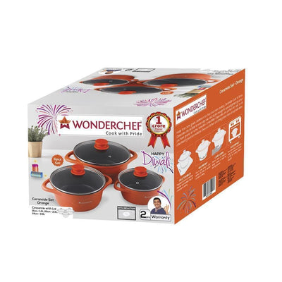 Wonderchef Ceramide Casserole Set-Cookware