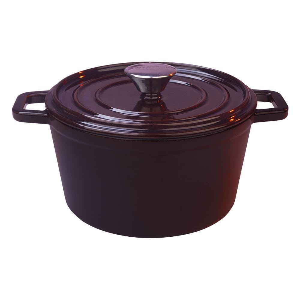 Ferro Cast-iron Casserole with Lid, 4.5mm, Majolica Red