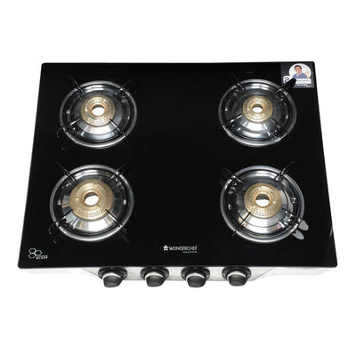 Wonderchef Ruby Glass Cooktop (4 Burner)