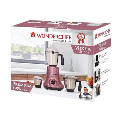Premium 750W Mixer Grinder with 3 Jars (Velvet)-Appliances