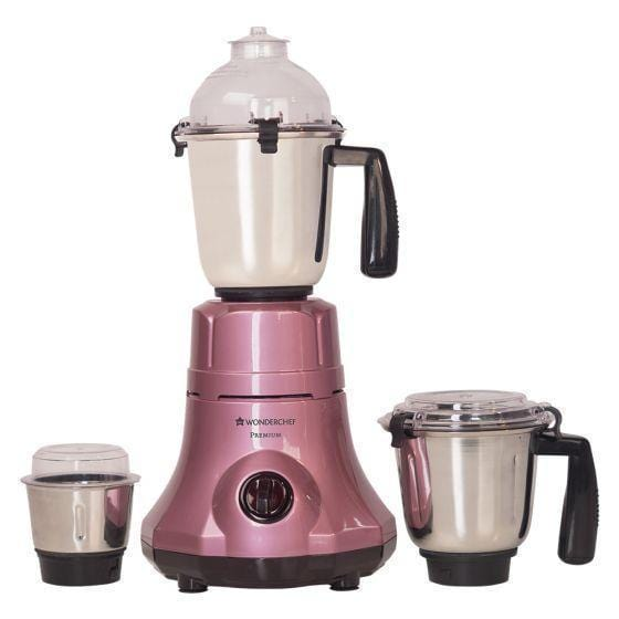 Premium 750W Mixer Grinder with 3 Jars (Velvet)