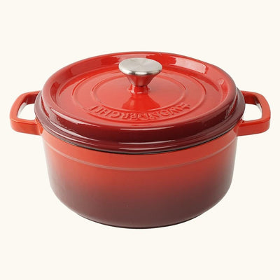Wonderchef Ferro Cast-Iron Casserole With Lid- Red-Cookware