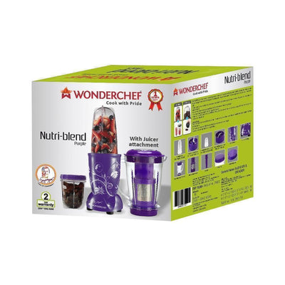 Nutri-Blend Mixer Grinder 3 Jars With Juicer Attachment, 400W-Purple-Appliances