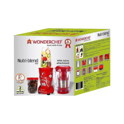 Wonderchef Nutri-Blend Mixer Grinder 3 Jars With Juicer Attachment-Appliances