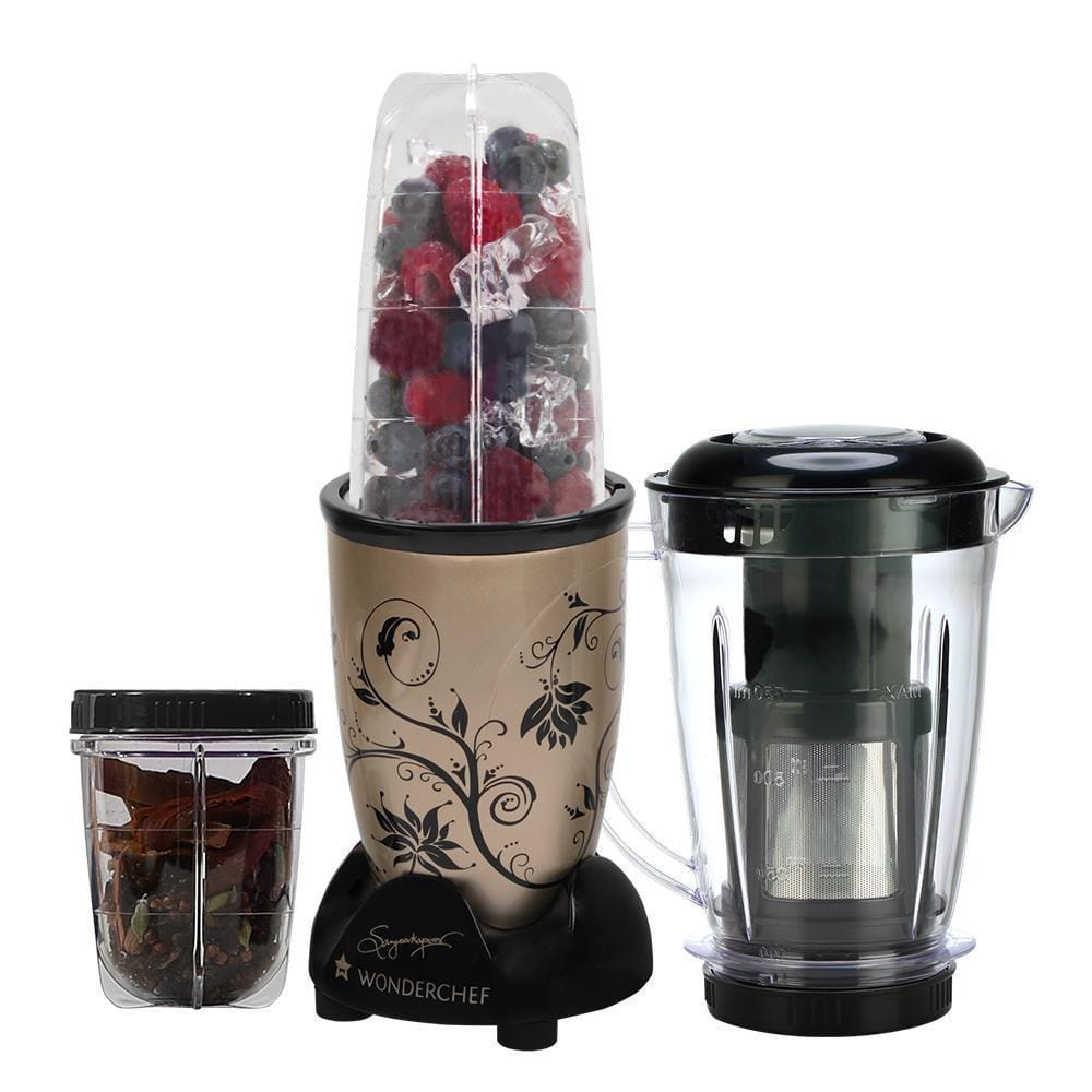 Wonderchef Nutri-Blend Mixer Grinder 3 Jars With Juicer Attachment-Champagne