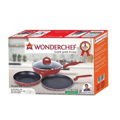 Wonderchef Crystal Set-Cookware