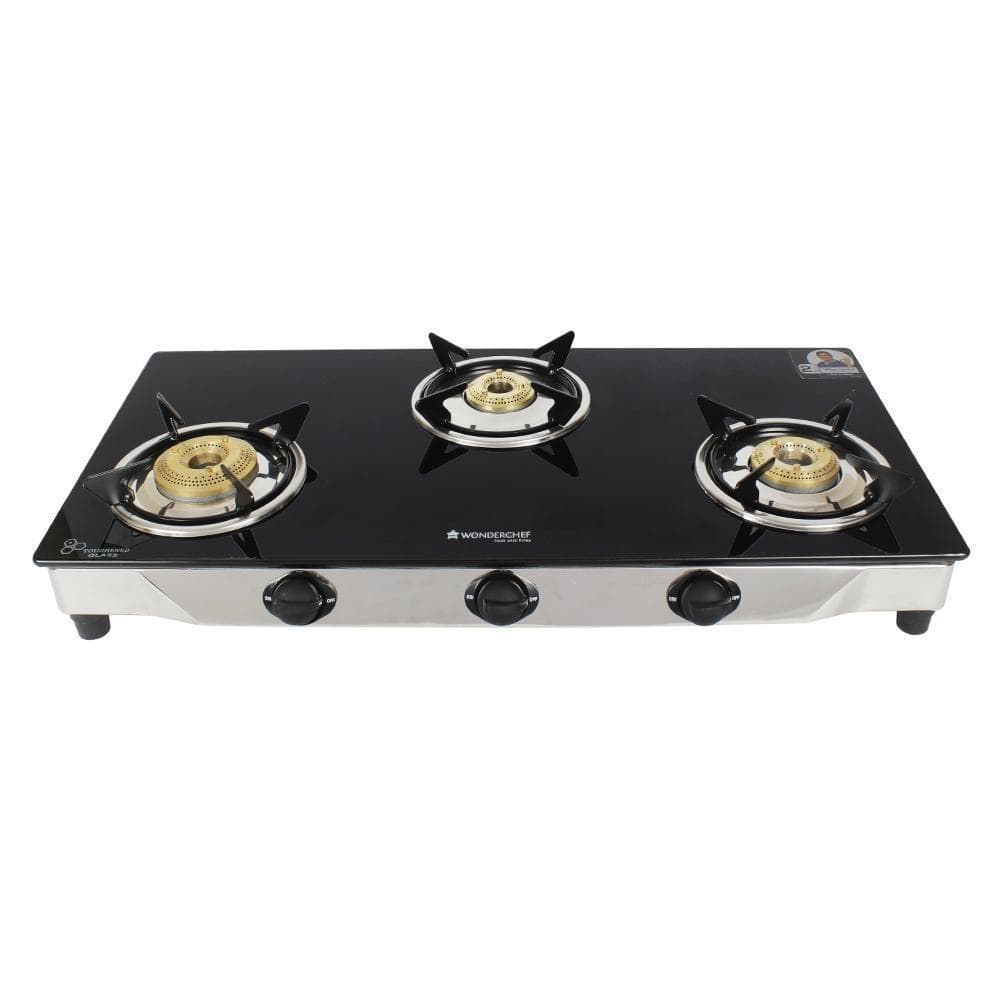 Wonderchef Energy 3 Burner Glass Cooktop