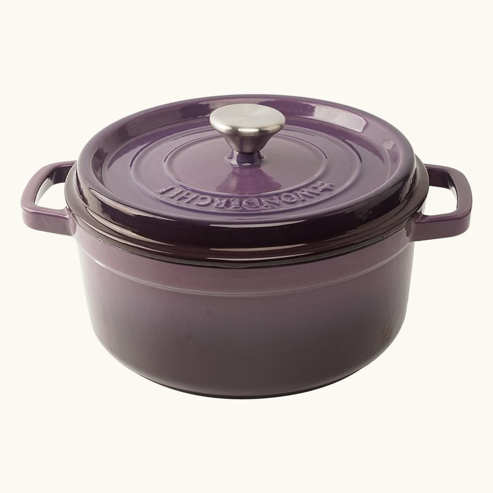 Wonderchef Ferro Cast-iron Casserole with Lid, 3.5mm, Purple