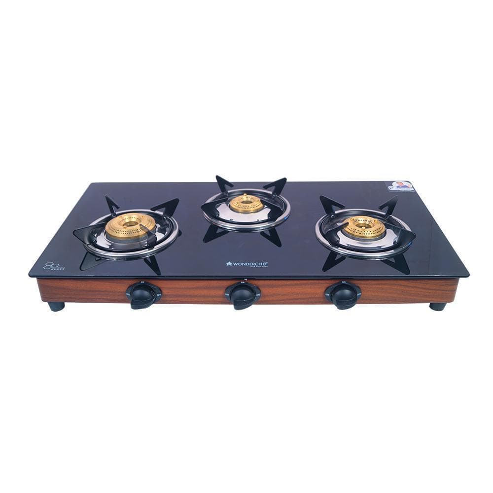 Wonderchef Eco Star 3 Burner Glass Cooktop