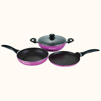 Athena Aluminium Nonstick Cookware Set, 4Pc-Hot-Sets