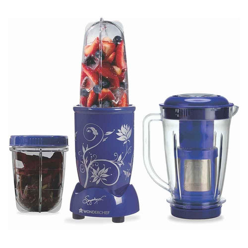Wonderchef Nutri-Blend With Juicer Attachment (Blue)