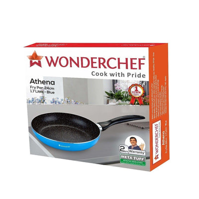 Wonderchef Athena Fry Pan - 24Cm (Blue)-Cookware