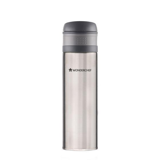 Uni-Bot Double Wall Stainless Steel Vaccum Insulated Hot and Cold Flask 500ml, Silver